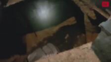 Un socavón provocado por la tormenta engulle un coche en Segovia