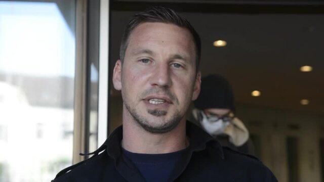 Sprengmeister Thorsten Lüdeke im Interview nach der Bombenentschärfung am 7. Oktober