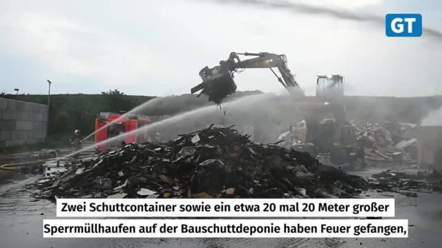 Brand am Göttinger Kompostwerk