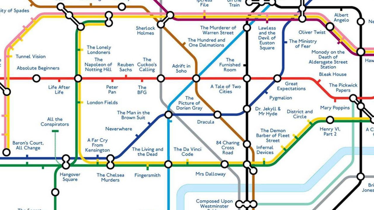 'Literature' Tube map replaces stations with titles of books set in the area