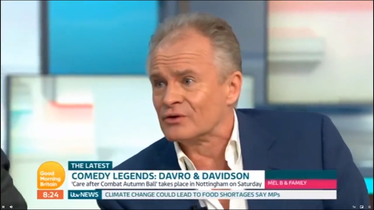 Bobby Davro says he is 'drunk' on Good Morning Britain while promoting work for substance abuse charity