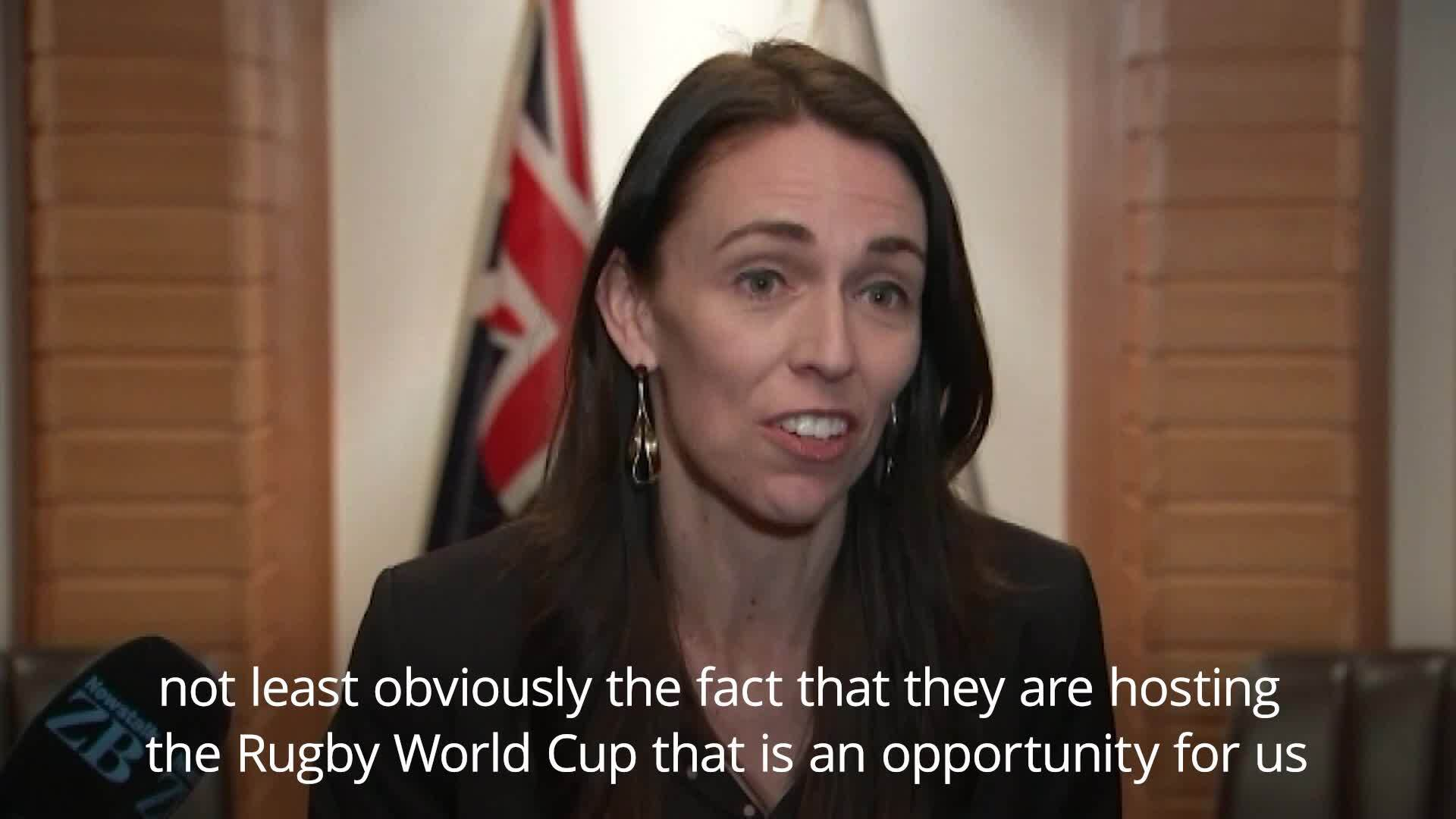 New Zealand PM Jacinda Ardern confuses Japan for China moments after landing in Tokyo