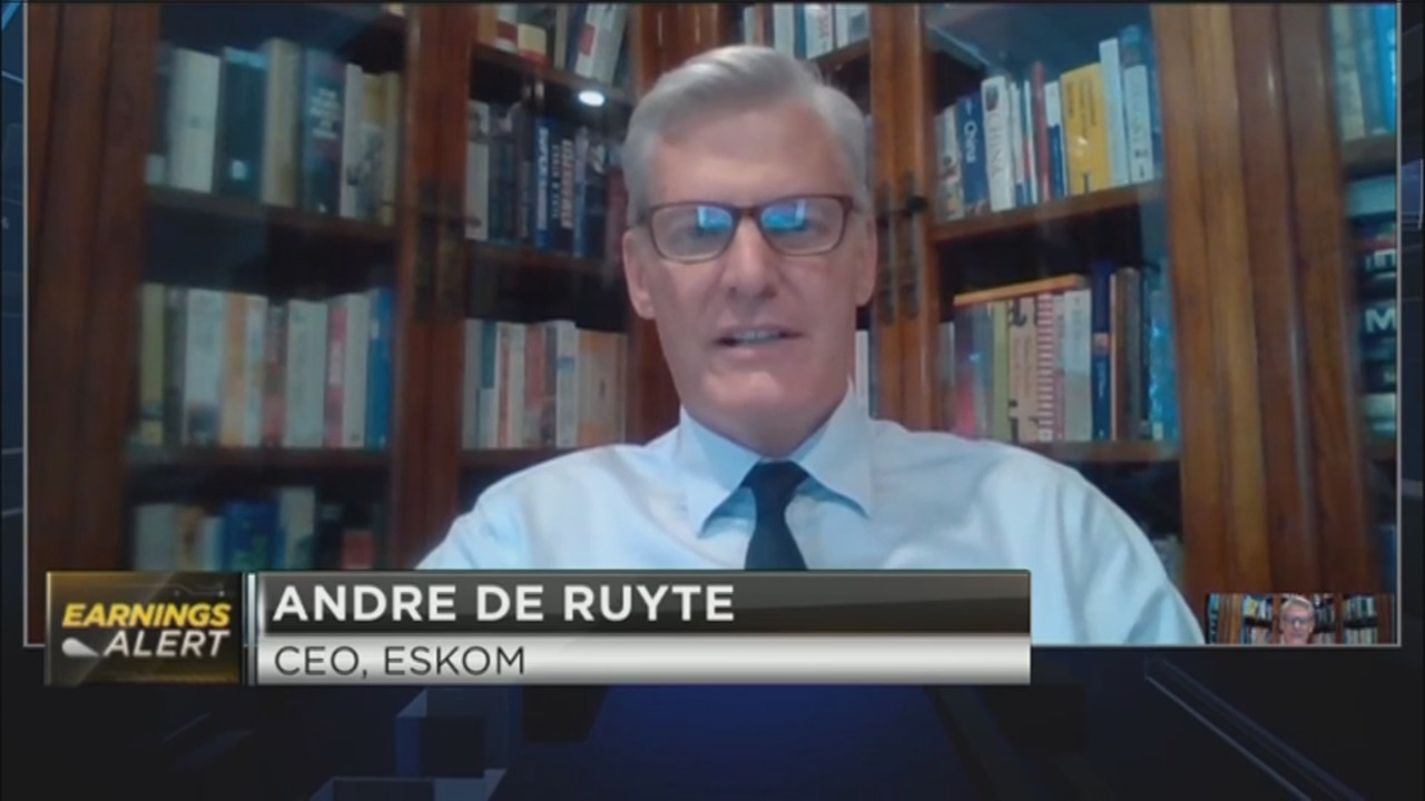 Eskom H1 results with CEO Andre de Ruyte