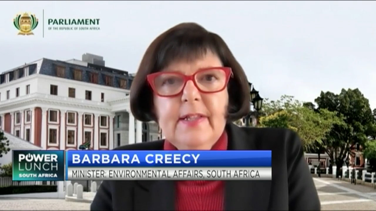 Minister Creecy details SA's climate change plan