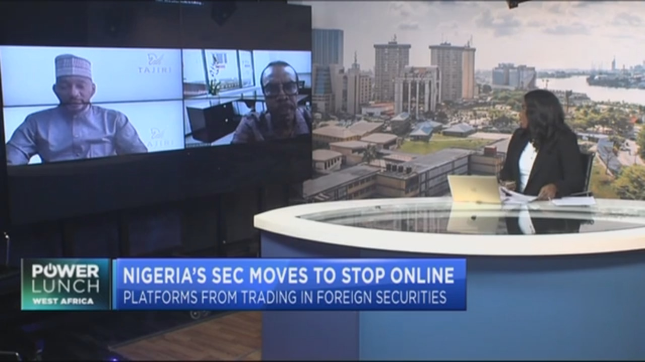 Nigeria's SEC moves to stop online platforms from trading in foreign securities