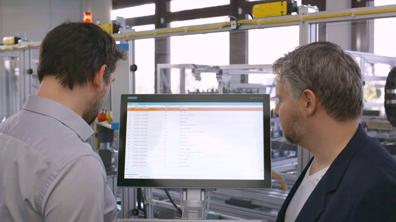 Machine level HMI | Operator Control and Monitoring Systems | Siemens