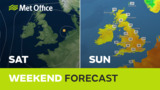 Weekend weather - Drier a…