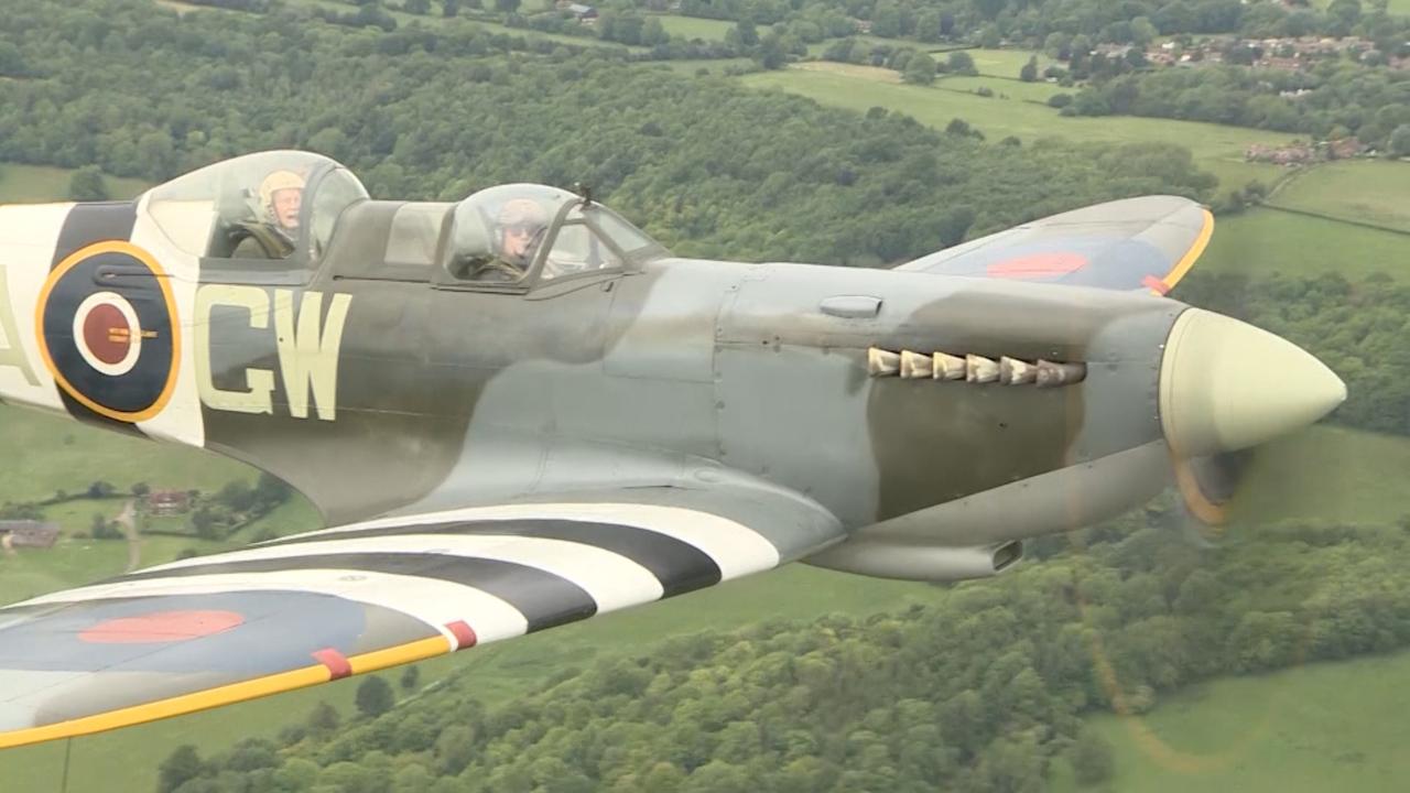 Former Spitfire Crews Reunited With D-Day Aircraft