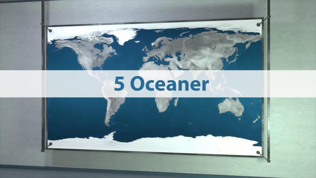 Hav och oceaner – oceaner, innanhav och marina reliefformer