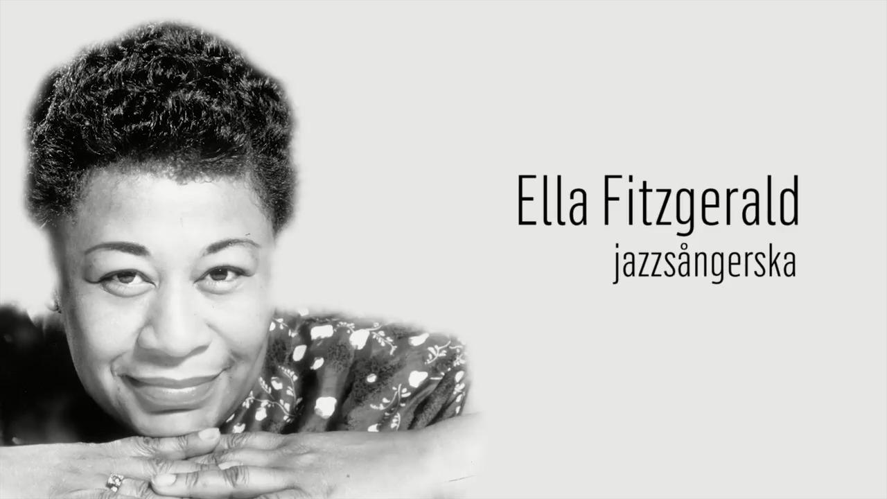 Berömda kvinnor – förr och nu: Ella Fitzgerald