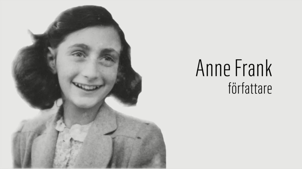 Berömda kvinnor – förr och nu: Anne Frank