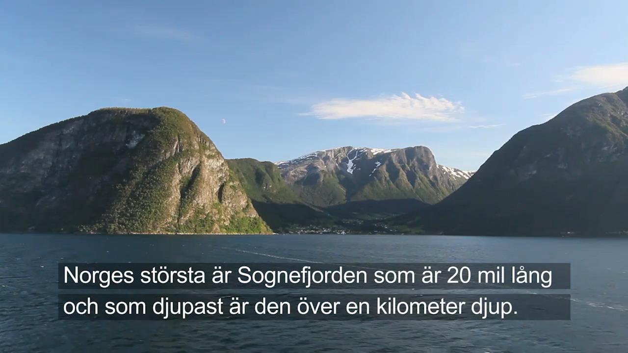 Upptäck Norden – Norges geografi och historia