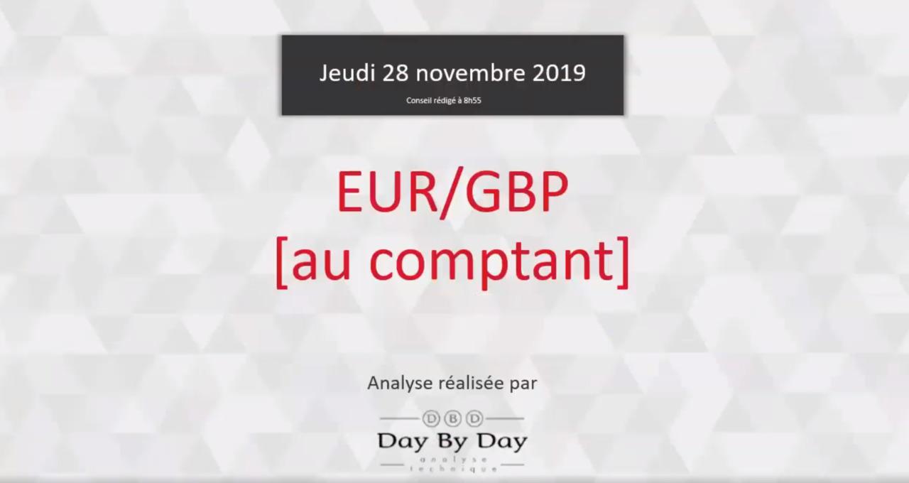 Vente Euro Contre Livre Sterling Au Comptant Idee De Trading 28 11 2019