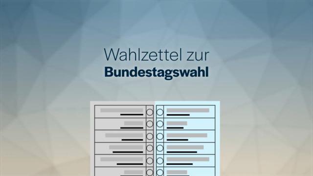 Der Wahlzettel zur Bundestagswahl