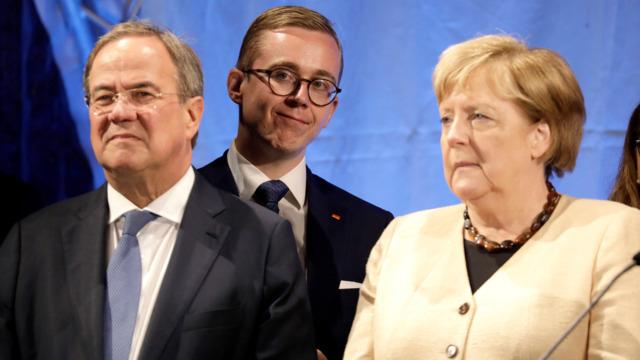 Merkel und Laschet warnen gemeinsam vor Rot-Grün-Rot