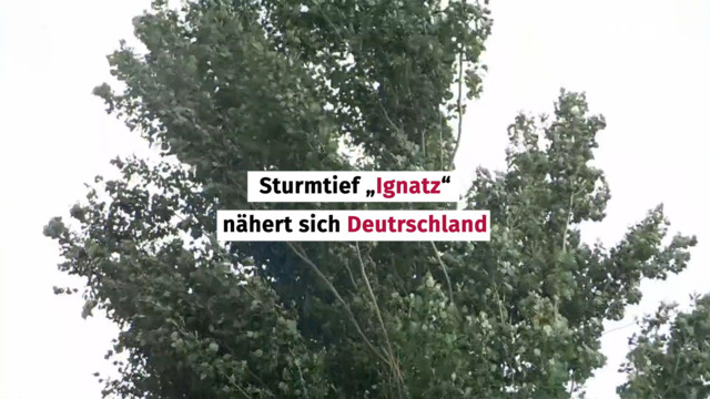 """Meteorologe erklärt: So fegt Sturm """"Ignatz"""" durch Deutschland"""