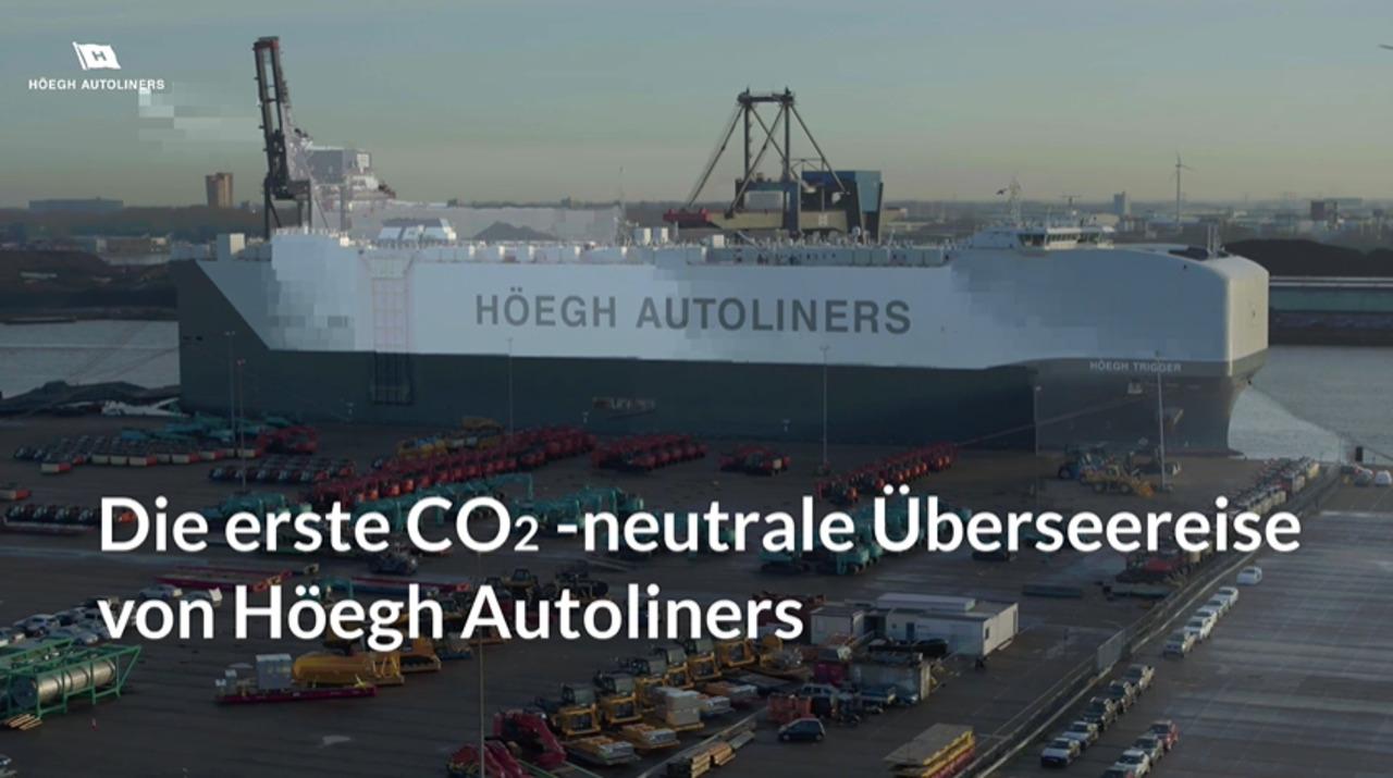 Die erste CO2-neutrale Überseereise von Höegh Autoliners, Video