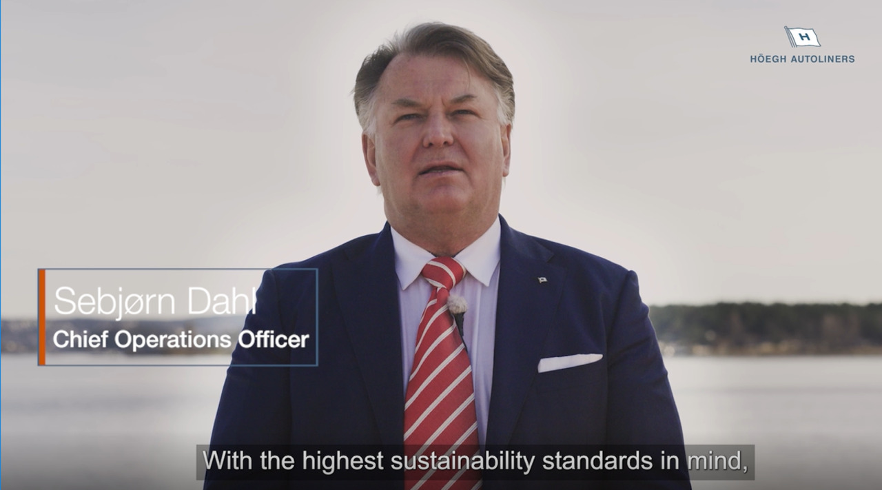 Sebjørn Dahl, Chief Operations Officer on Höegh's first carbon neutral voyage, Video