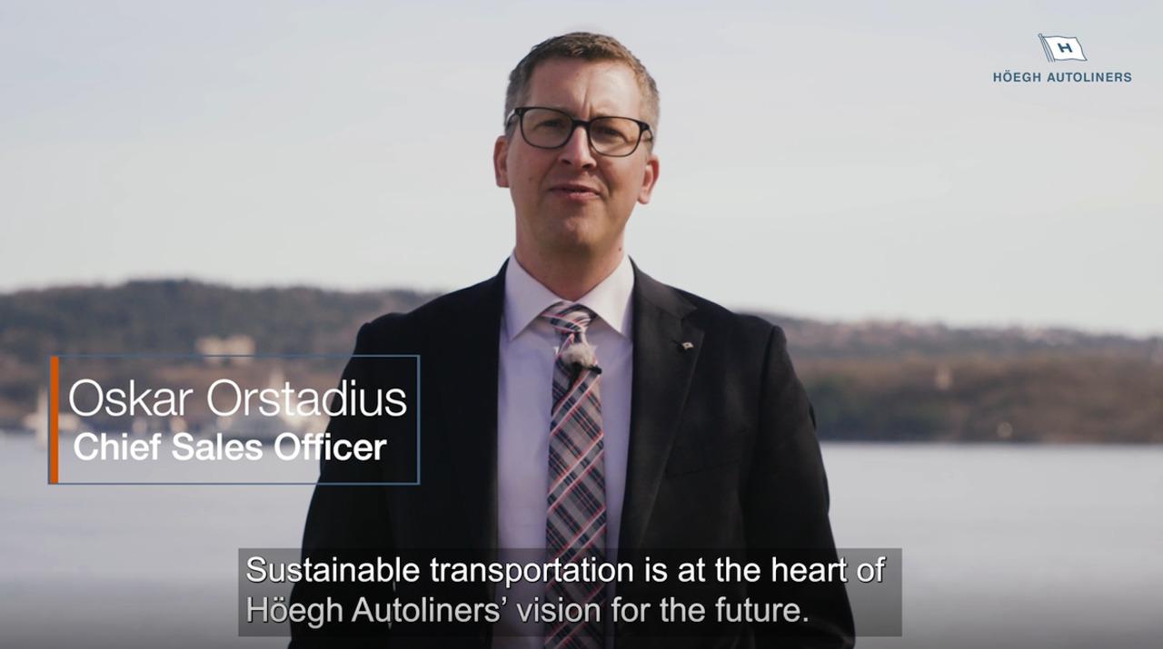 Oskar Orstadius, Chief Sales Officer discusses sustainable transportation, Video