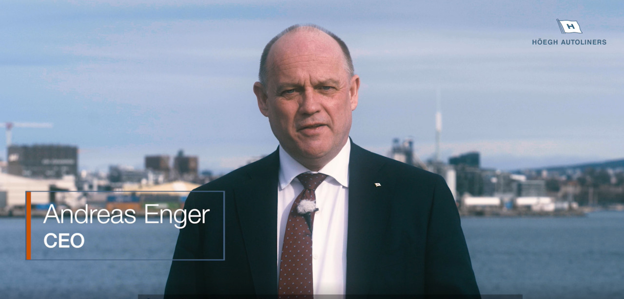 Hear from Andreas Enger CEO; first carbon neutral voyage for Höegh Autoliners, Video