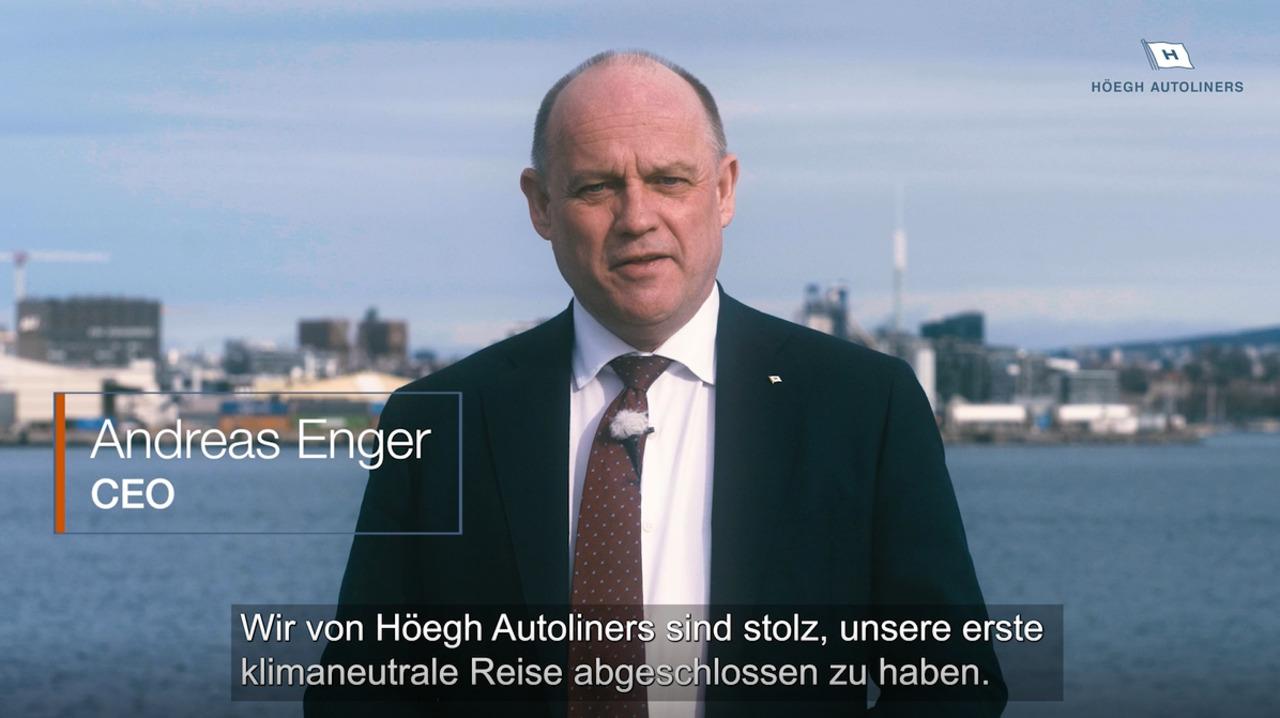 Internationale Verschiffung mit nachhaltigem Biokraftstoff  , Video