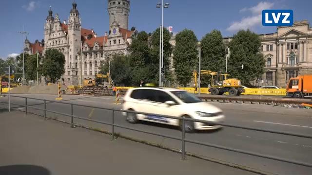 Großbaustelle am Wilhelm-Leuschner-Platz