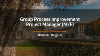 Group Process Transformation Project Manager (M/F)