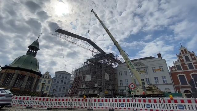 Brandhaus in Wismar verliert sein Notdach