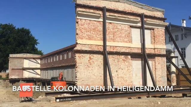 Heiligendamm: Baustelle Kolonnaden (Video: Anja Levien, Juni 2021)