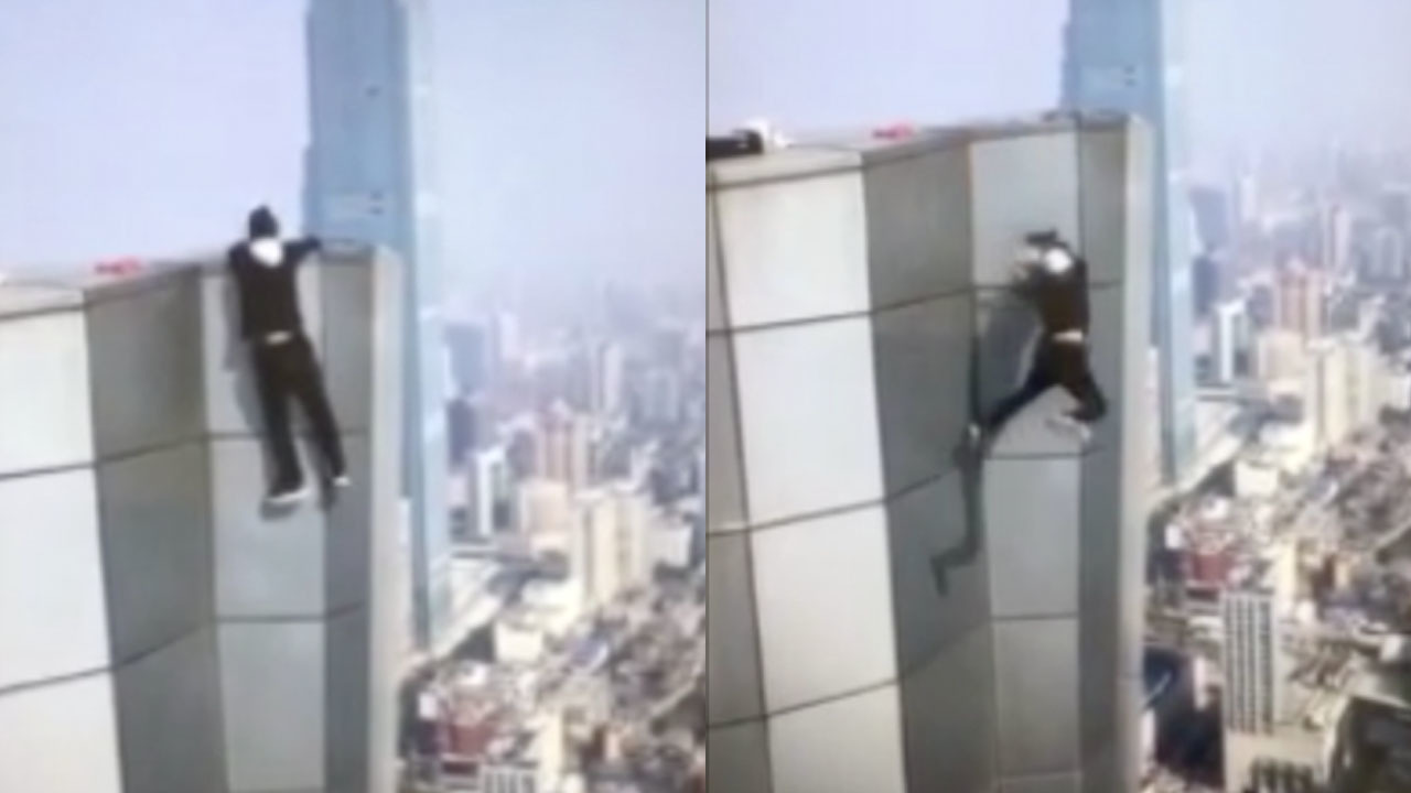 Horror Moment Daredevil Wu Yongning Falls To His Death From The - Daredevil films extreme parkour on top of skyscraper