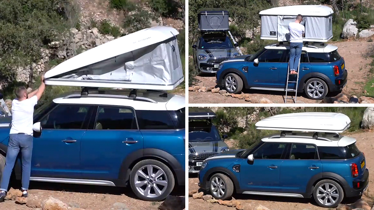 Bizarre £2400 roof tent accessory for c&ing on the move in MINI Countryman unveiled & Bizarre £2400 roof tent accessory for camping on the move in MINI ...