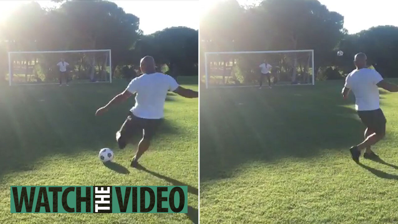 Watch Roberto Carlos recreate iconic free-kick vs France… but rusty