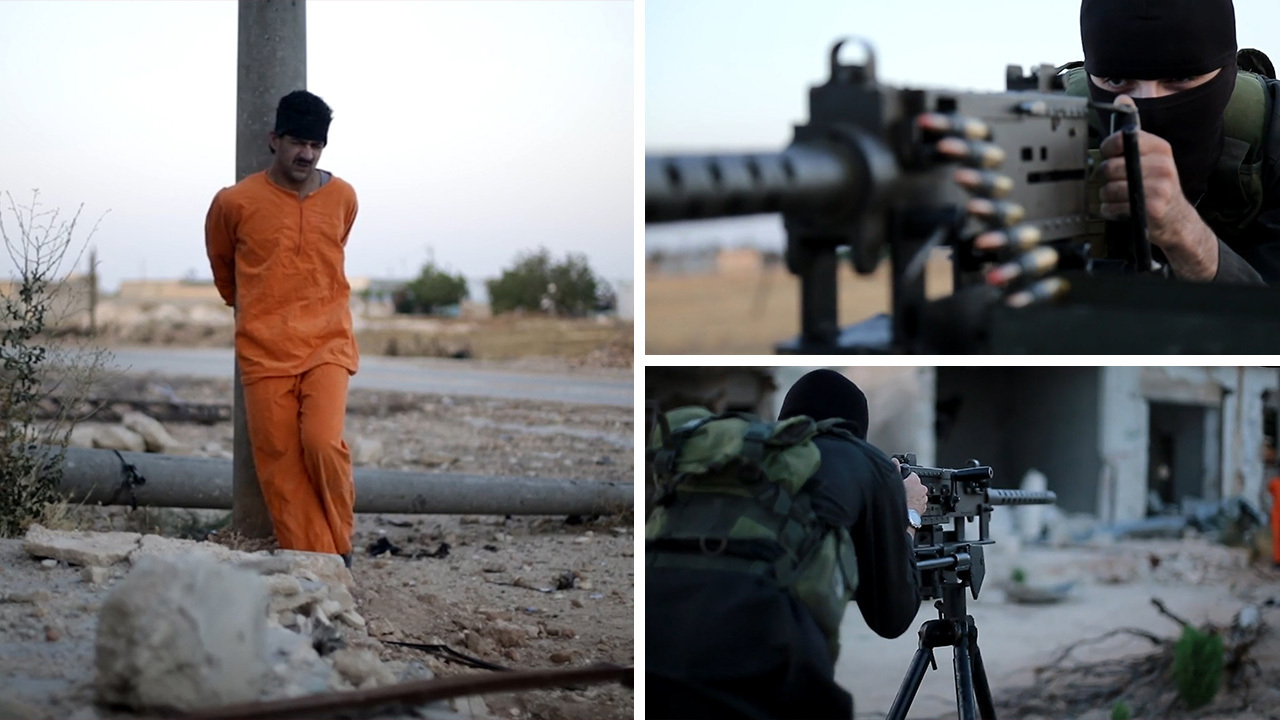 Barbaric ISIS execution video shows prisoner tied to a pole and
