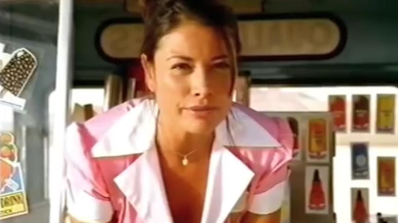 Melanie Sykes films a NEW Boddington's advert, 20 years