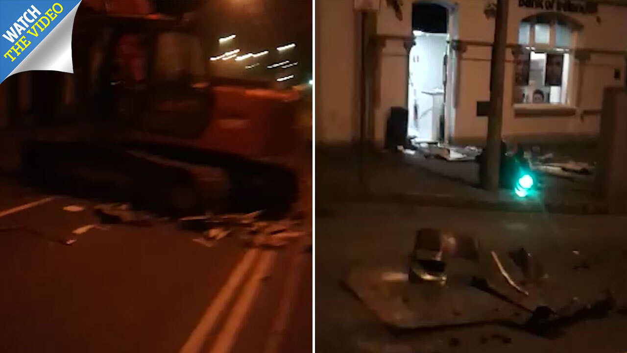 Drunk Scot stole digger to ramraid shop ATM - but fled with