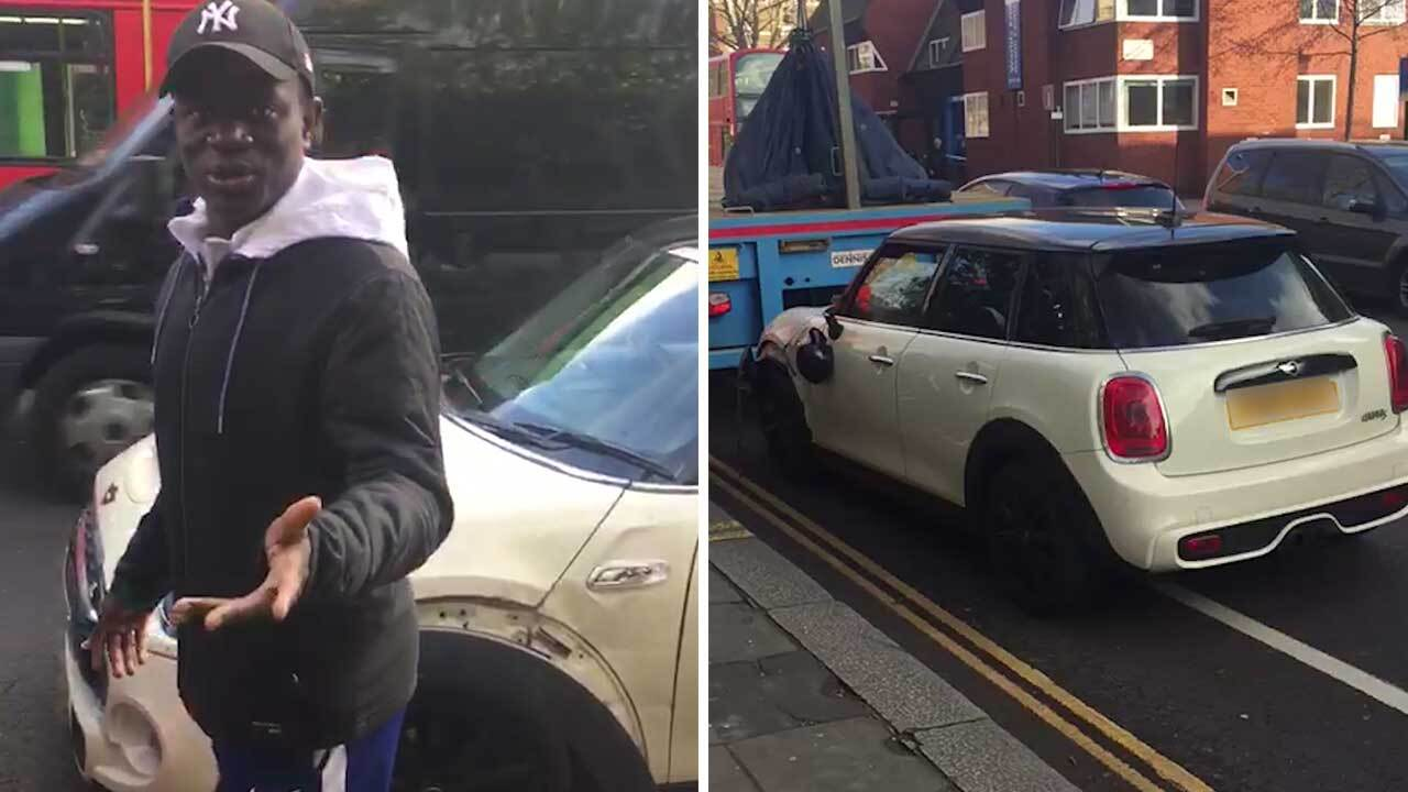 N Golo Kante Crashes 20 000 Mini Cooper Car On Way To Chelsea Vs Nal Match The Sun