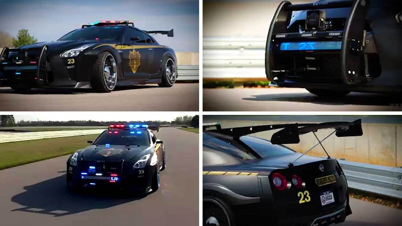 Slick Nissan \'Copzilla\' shows what the police cars of the future ...