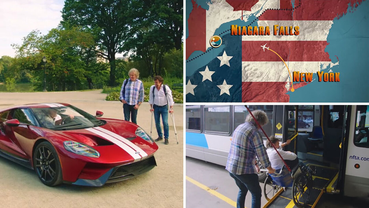 The Grand Tour Episode Two Features Richard Hammond On Crutches For Epic Race From New York To Niagara Falls