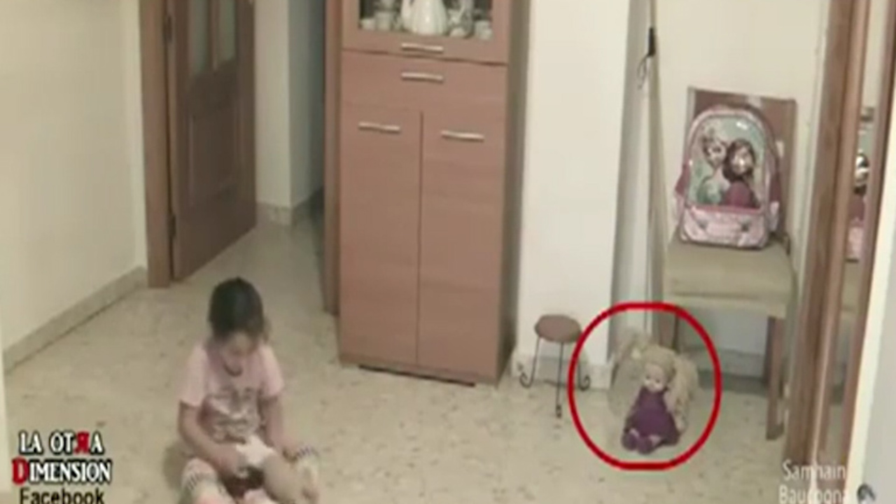 Creepy home security footage appears to show little girl