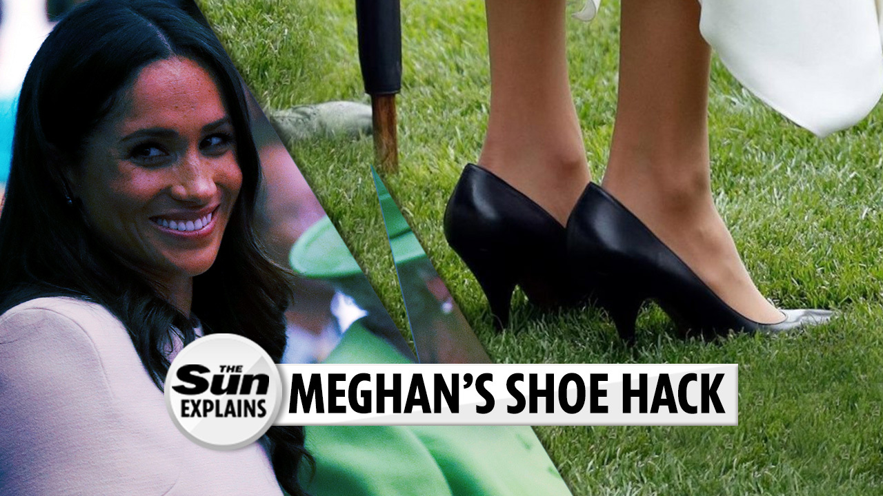 a590255a3 Kate Middleton uses this genius tights tip to keep her high heels in place