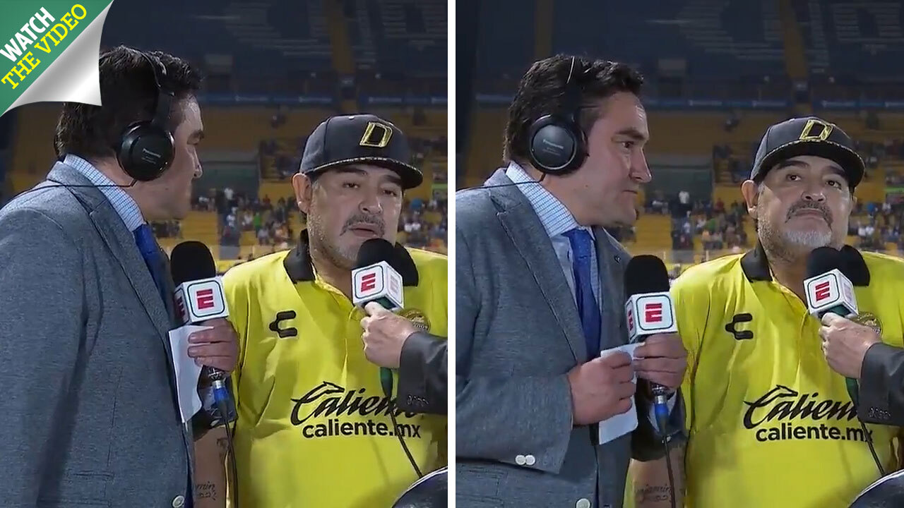 c6d7b5c75e3 Diego Maradona leaves reporter hanging in incredibly awkward interview