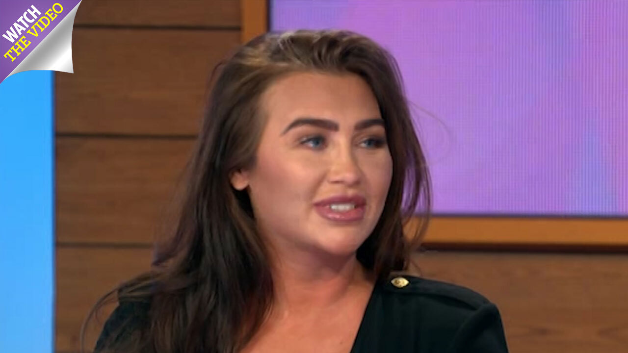 0dd82fba3cc Lauren Goodger struggles to contain her outlandish curves in tiny bikini top