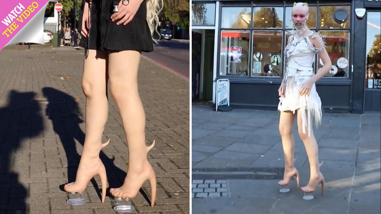 da787ca620c0c Woman goes viral for wearing flesh-coloured leggings… that make her look  NAKED