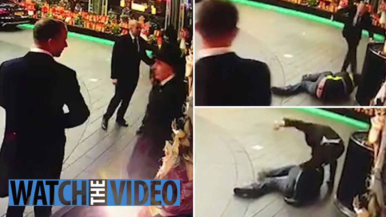 Savoy doorman kicks homeless man's face and stamps on his