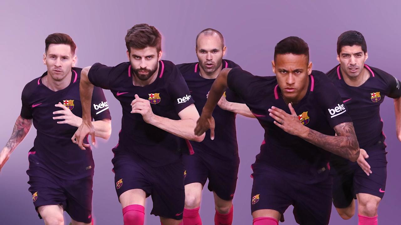 1ff05e017 Barcelona unveil their new purple and pink away kit for the La Liga season