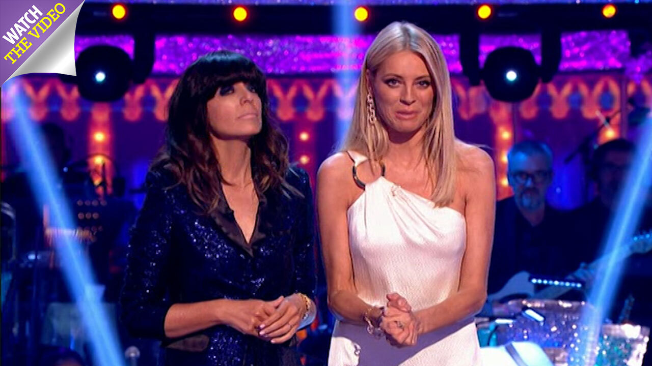 661cd77fcd5 Claudia Winkleman and Tess Daly open the Strictly Come Dancing grand final  in dazzling outfits