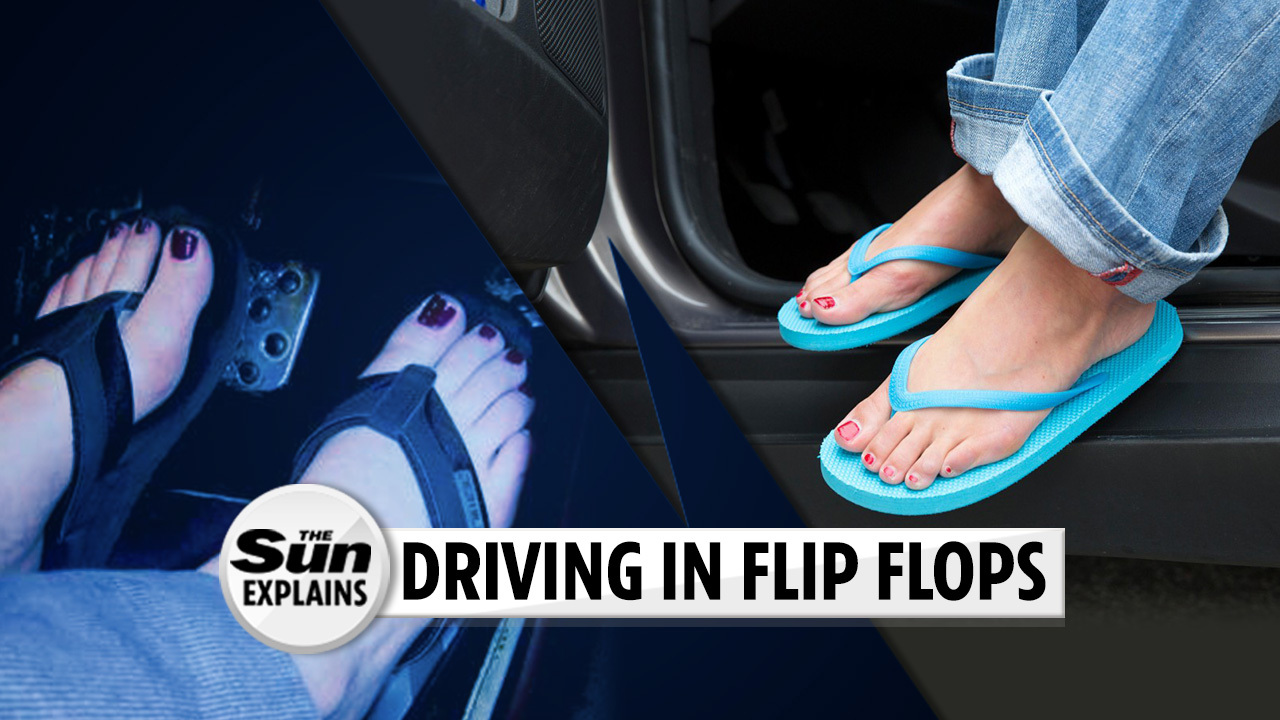 03bbc47bd5 How driving in flip flops could land you a £5,000 fine, NINE penalty points  and a road ban