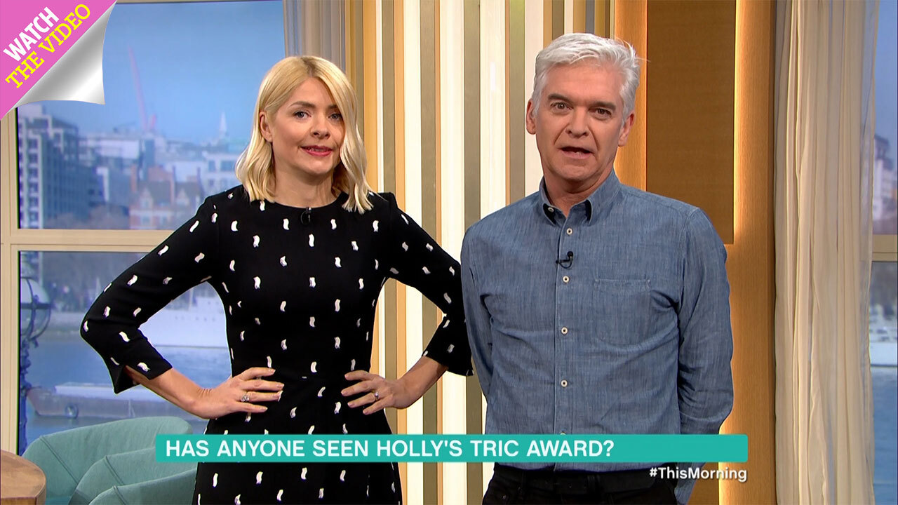 62244cd66630 Holly Willoughby wears red leopard-print Whistles dress on This Morning