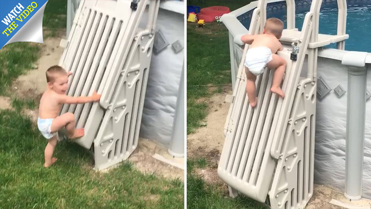 Toddler From Massachusetts Climbs What Is Supposed To Be A Gate