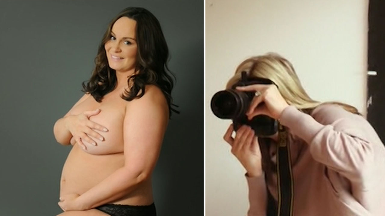 Andrea Mclean Topless topless chanelle hayes recreates demi moore's iconic naked